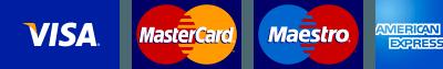 Akceptujemy wszystkie główne karty kredytowe i debetowe